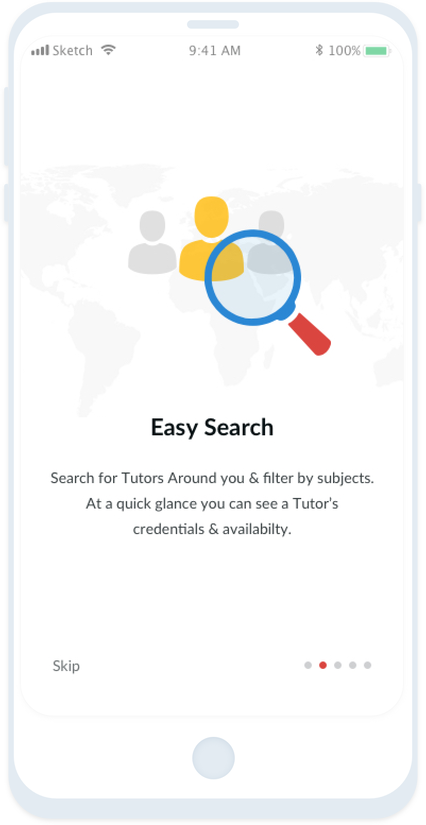 Easily search for Tutors online and near you!