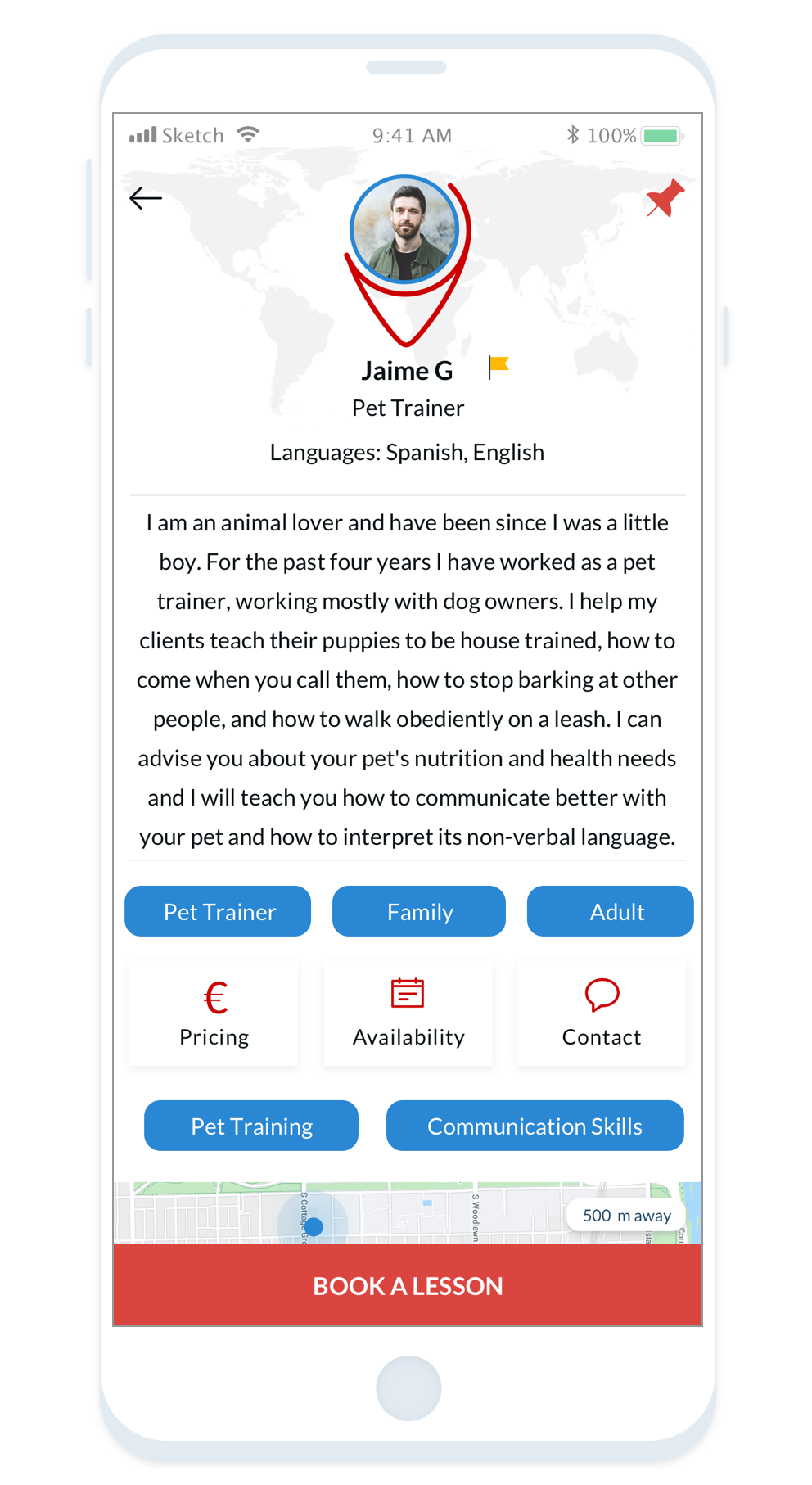Searching for dog training jobs? Find pet owners on Tutor Around app looking for a professional to help train their dog.